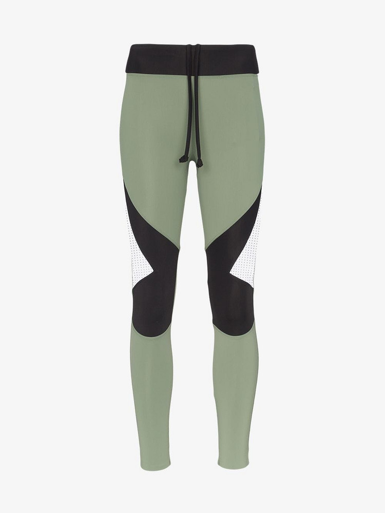 Charli Cohen Laser Colour Block Leggings in green
