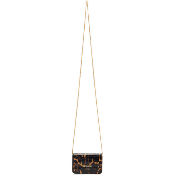 Burberry Brown Leopard Jody Card Case Bag