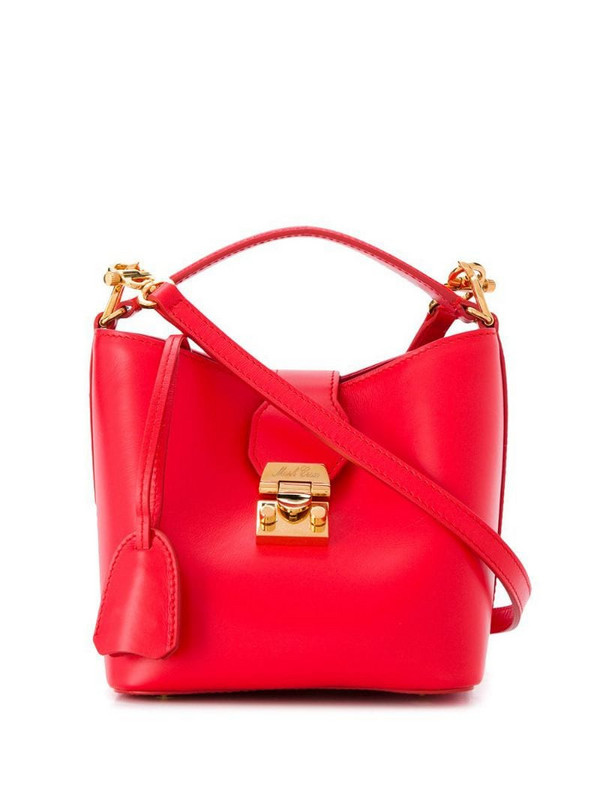 Mark Cross Murphy bucket bag in red