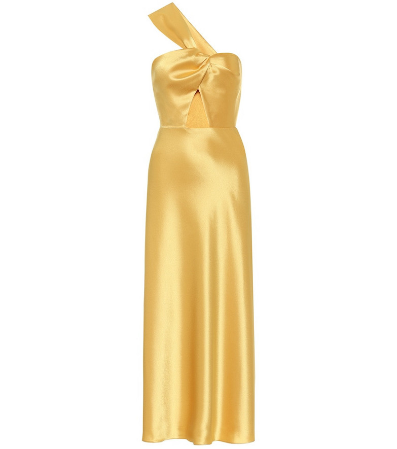 Racil Satin midi dress in gold
