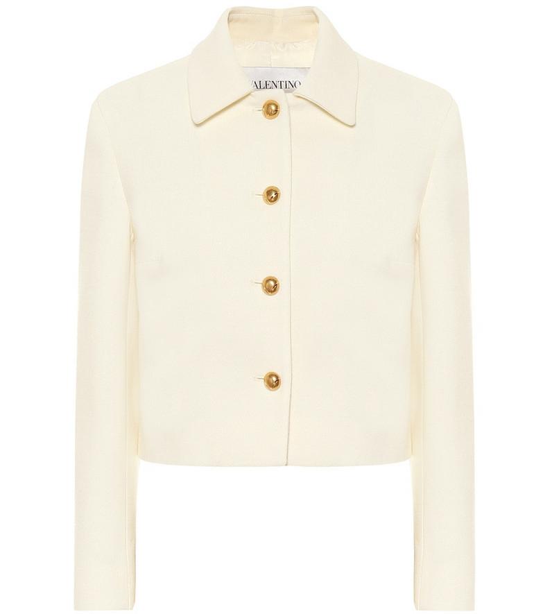 Valentino Stretch-wool jacket in white