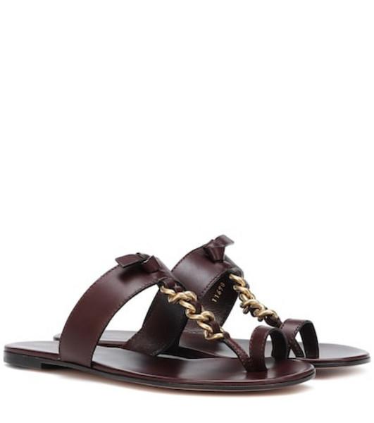 Gianvito Rossi Argo leather sandals in brown