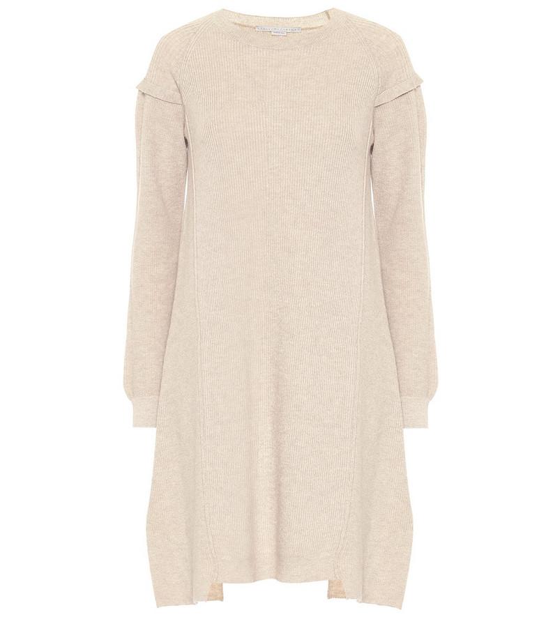 Stella McCartney Wool and alpaca midi dress in beige