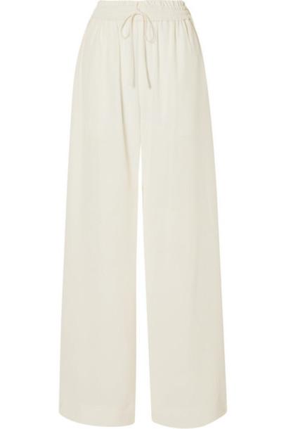 Co - Crepe Wide-leg Pants - Ivory