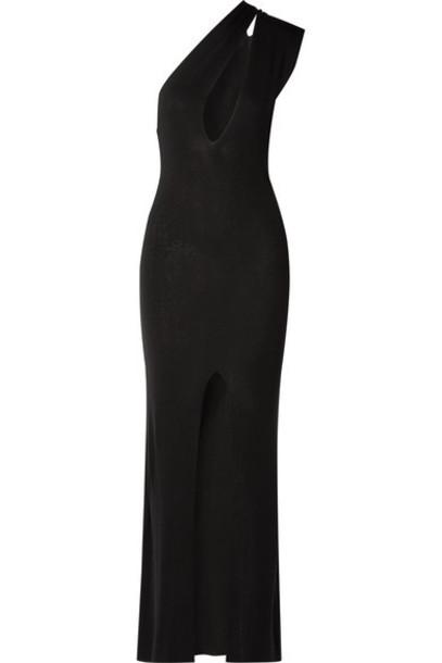 Jacquemus - Azur One-shoulder Cutout Knitted Maxi Dress - Black
