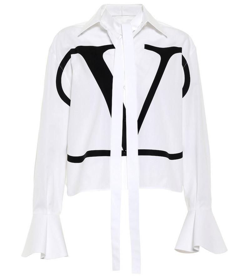 Valentino VLOGO cotton shirt in white