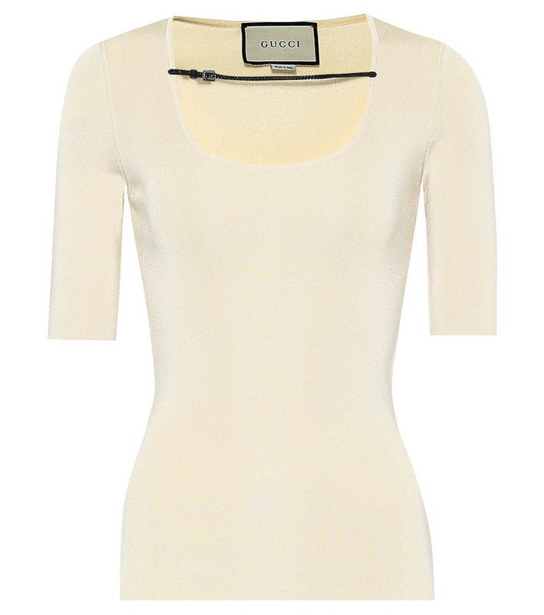 Gucci Embellished top in white