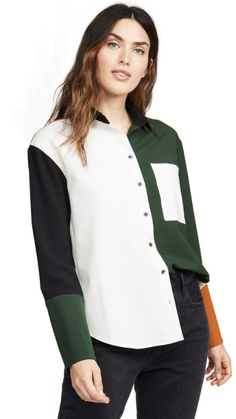 Chinti and Parker Colorblock Shirt in black / multi