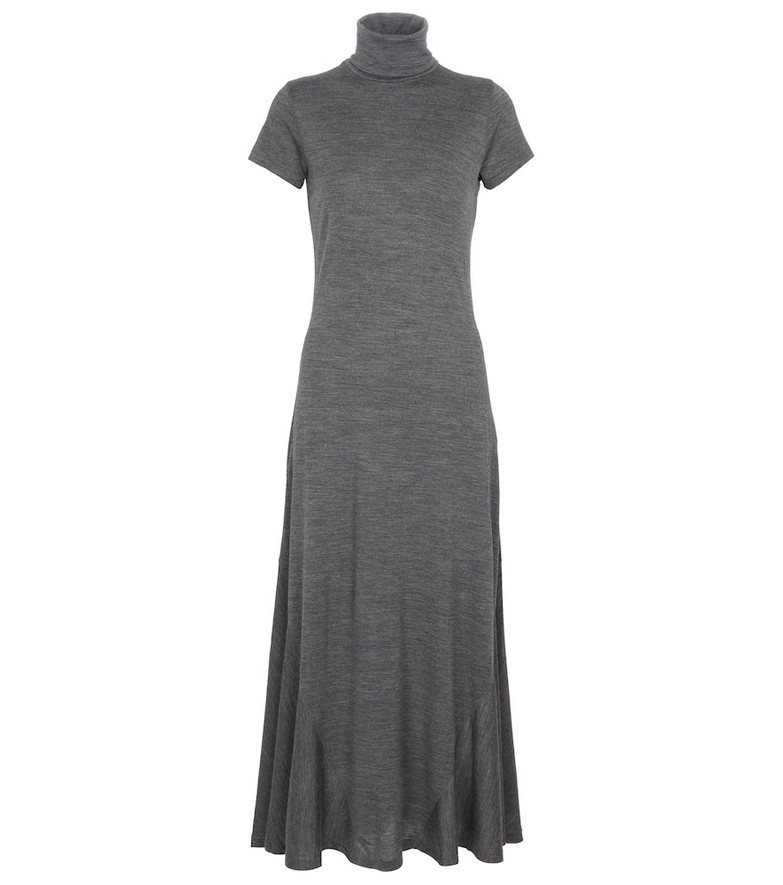Polo Ralph Lauren Turtleneck midi dress in grey