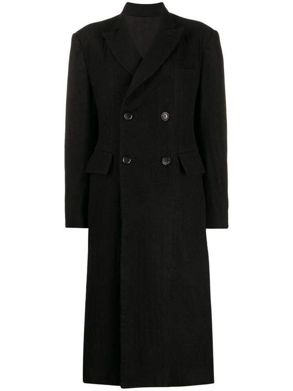 Junya Watanabe fitted double-breasted coat in black