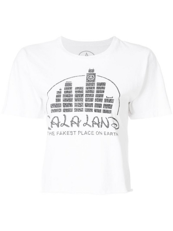 Local Authority La La Land cropped T-shirt in white