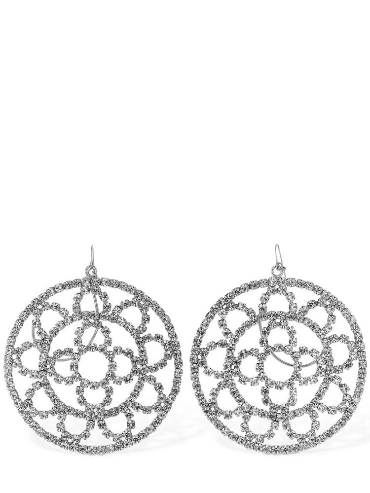 AREA Crystal Cupchain Crochet Earrings in silver