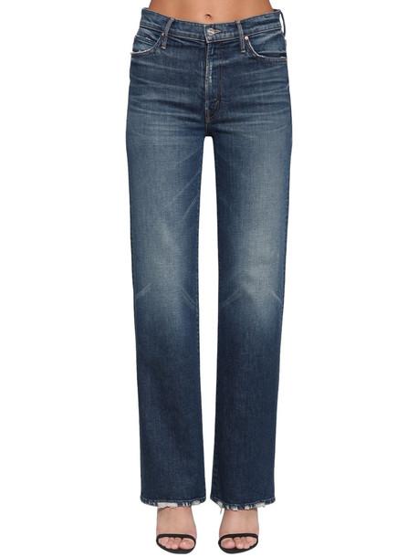 MOTHER The Kick It Wide Leg Denim Jeans in blue