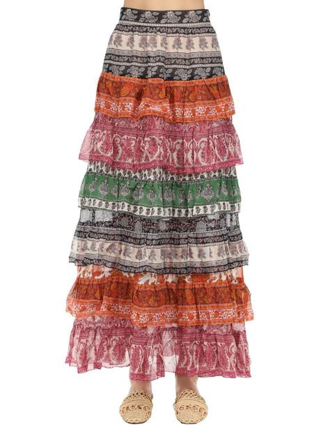 ZIMMERMANN Wild Printed Silk Skirt