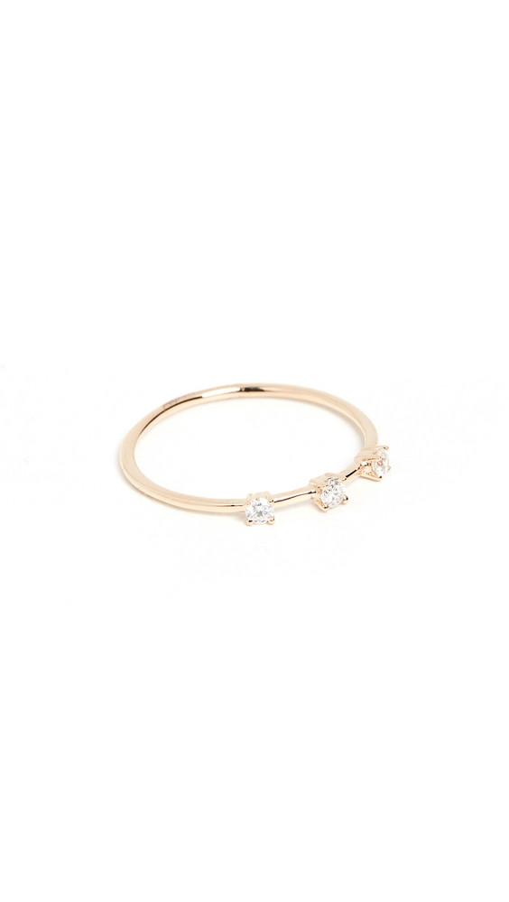 LANA JEWELRY 14k Round Diamond Ring in gold / yellow