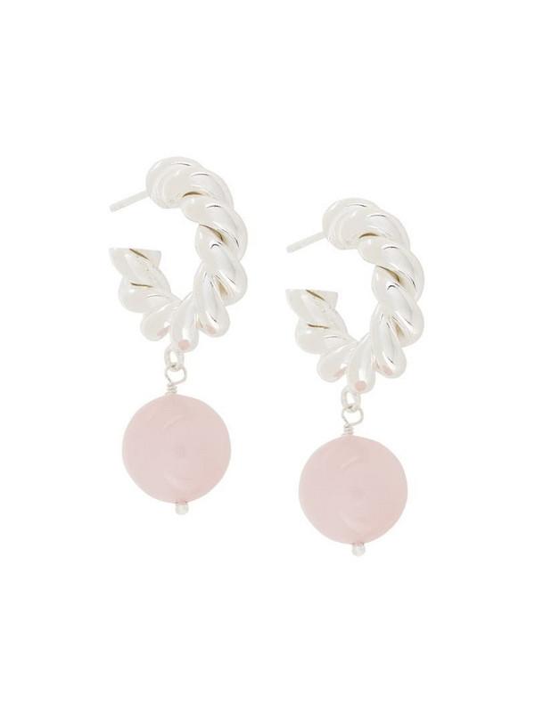 Isabel Lennse twisted pendant earrings in metallic