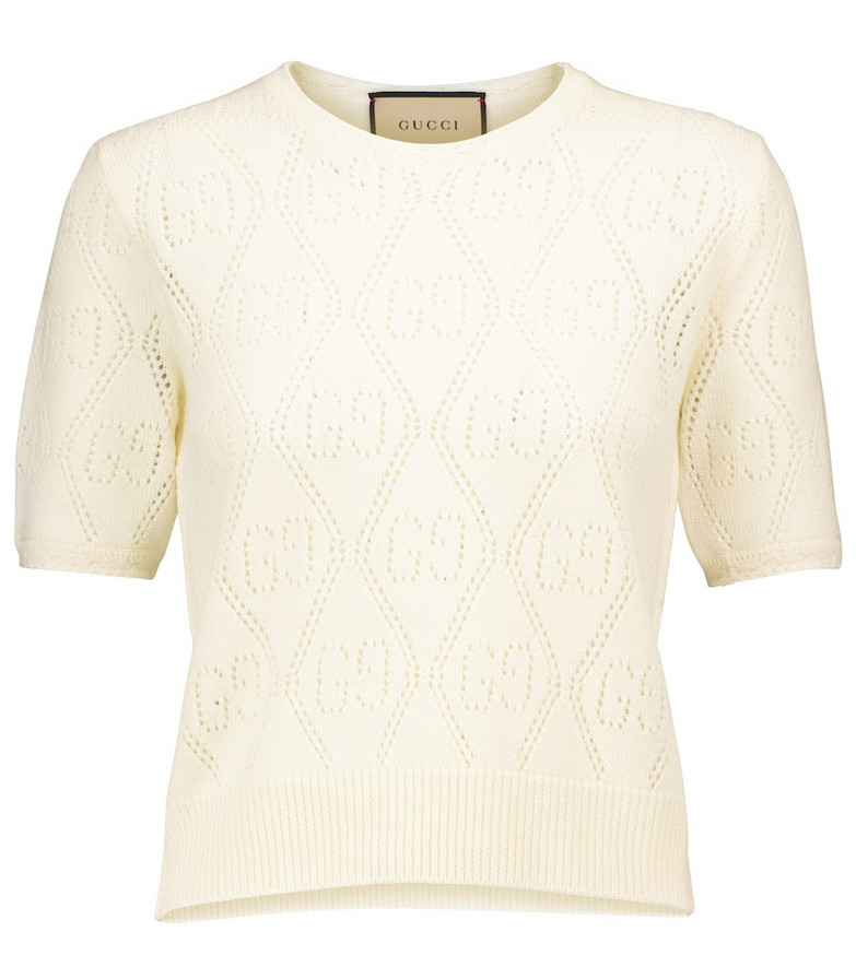 Gucci GG wool sweater in white