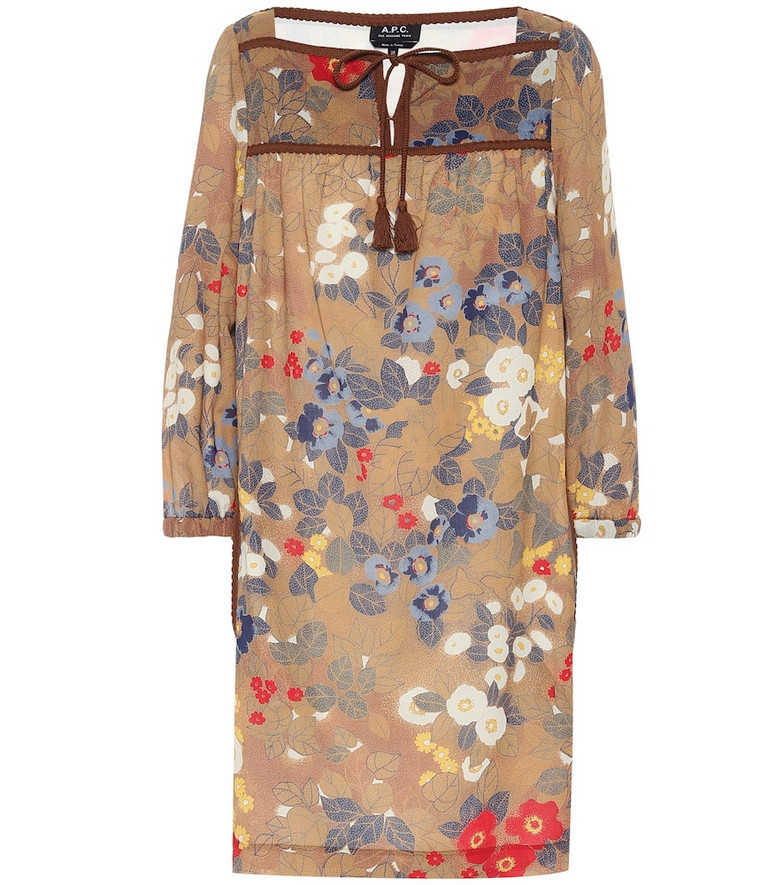 A.P.C. Solar floral cotton crêpe dress