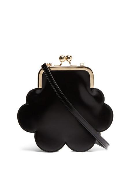Simone Rocha - Flower Leather Cross Body Bag - Womens - Black