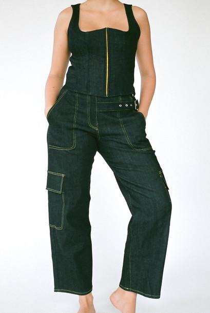 Miaou DAISY PANTS - BLACK