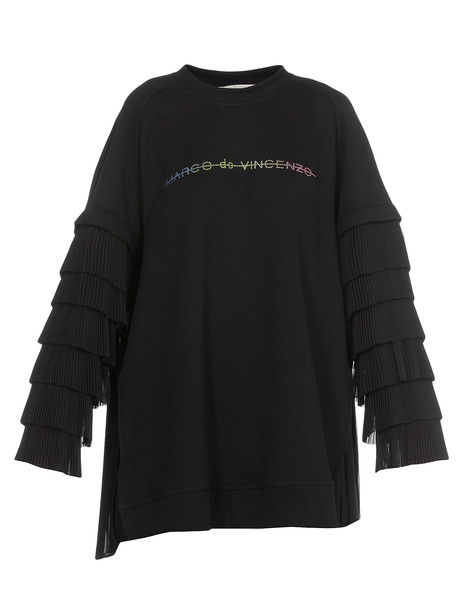 Marco de Vincenzo Logo Sweatshirt in black