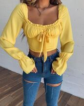 top,yellow top