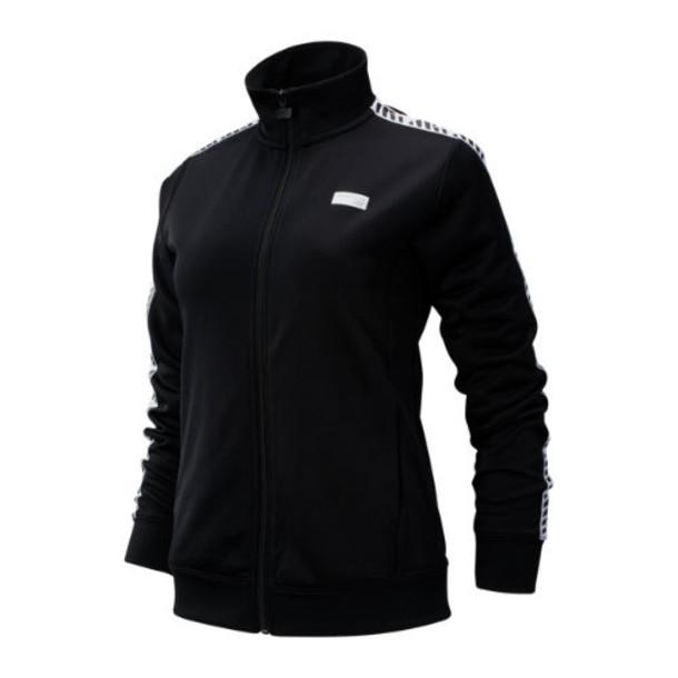 New Balance 93503 Women's NB Athletics Classic Track Jacket - Black/White (WJ93503BK)