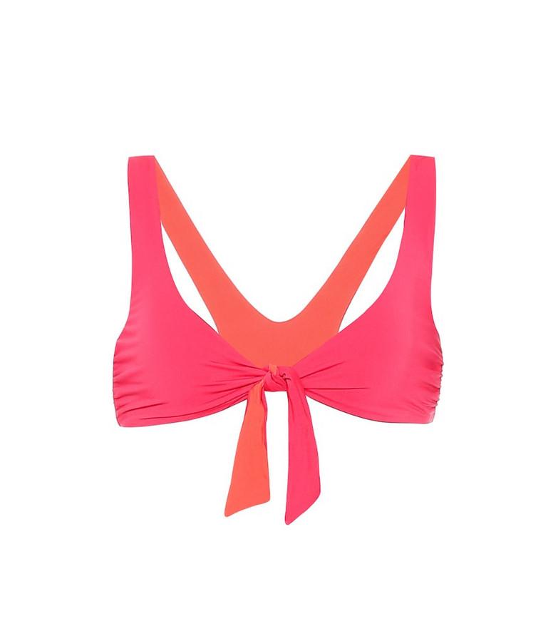 Stella McCartney Reversible bikini top in pink