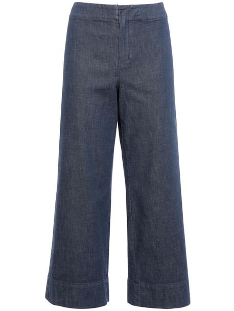 'S MAX MARA Cropped Cotton Denim Jeans in blue