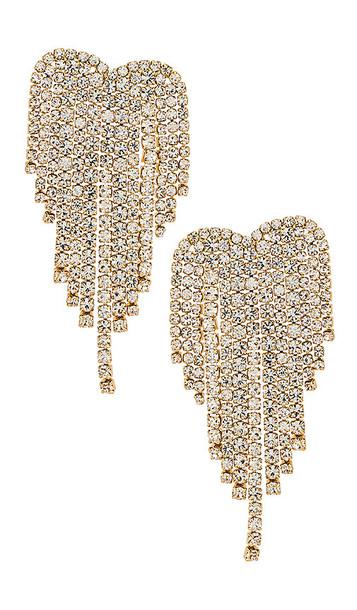 Ettika Crystal Earrings in Metallic Gold