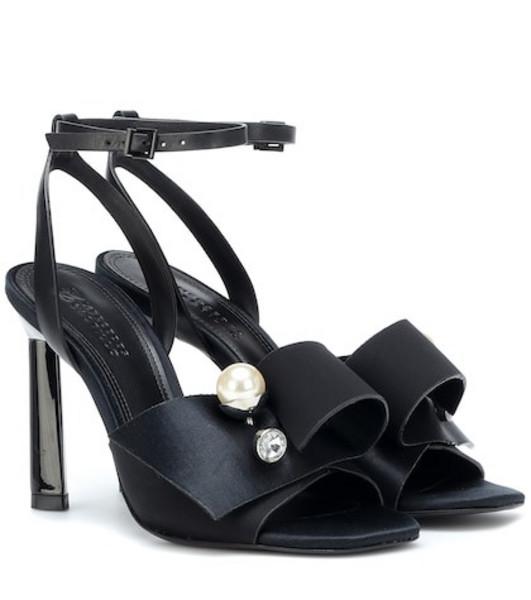 Mercedes Castillo Keria embellished satin sandals in black