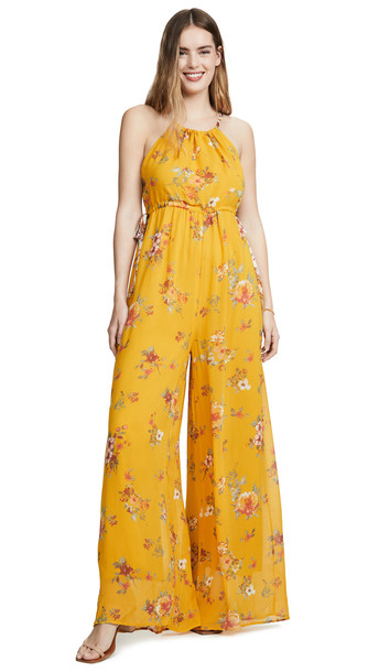 Free People Georgia Jumpsuit in gold
