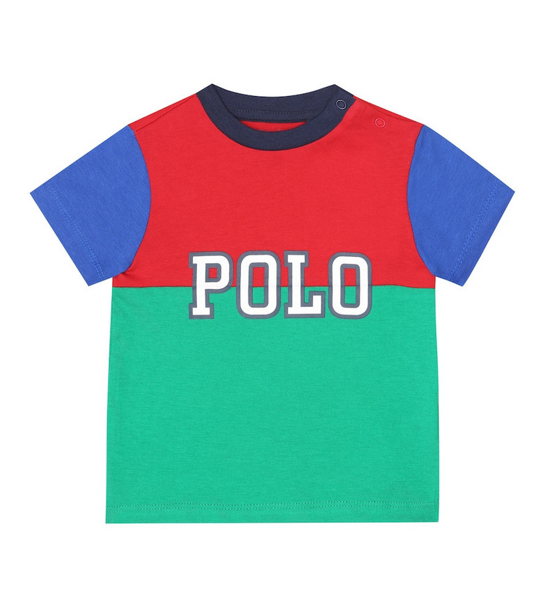 Polo Ralph Lauren Kids Baby T-shirt and shorts set in green