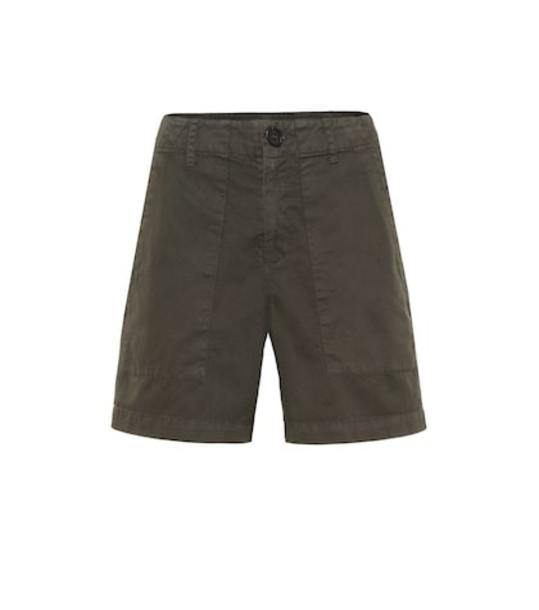 Velvet Kaely cotton shorts in green