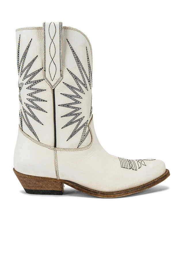 Golden Goose Wish Star Low Boot in white