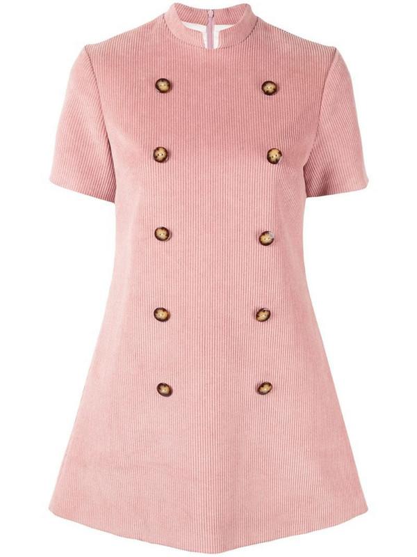 Macgraw Surrender corduroy dress in pink