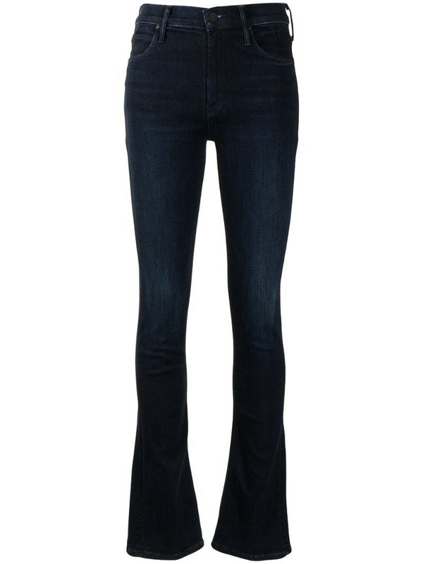 Mother mid-rise flared jeans in blue