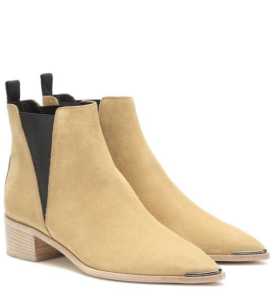 Acne Studios Jensen suede ankle boots in beige