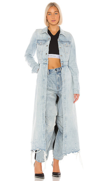 DENIM x ALEXANDER WANG Fitted Trench