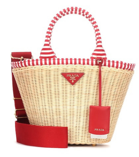 Prada Straw tote in red