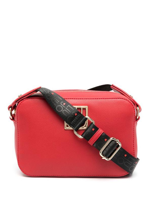 LIU JO logo-plaque camera bag in red