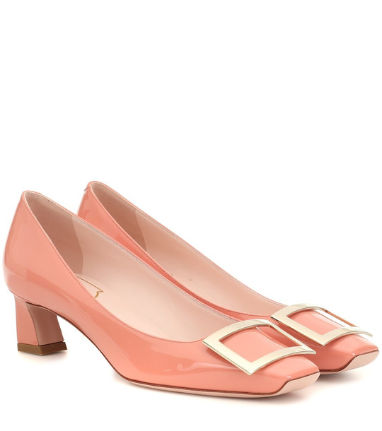 Roger Vivier Belle Vivier Trompette patent leather pumps in pink