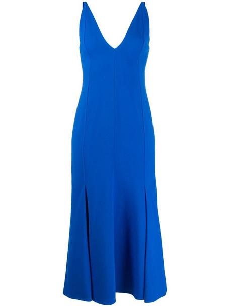Victoria Beckham camisole flared dress in blue