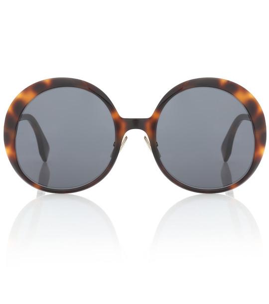 Fendi Oversized round sunglasses in brown