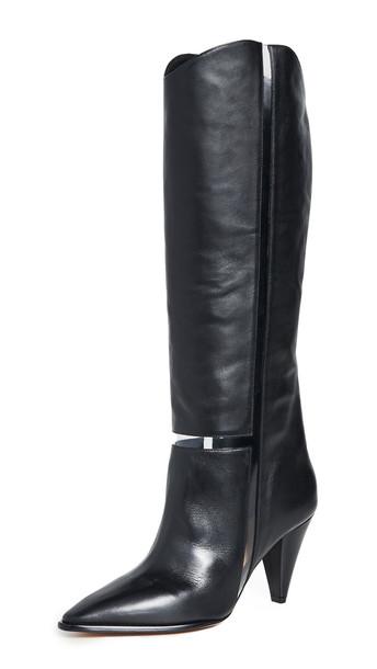 Alexandre Birman Dora 90mm Boots in black / transparent