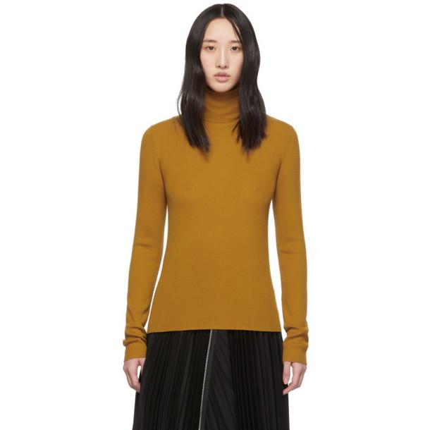 McQ Alexander McQueen Orange Wool Basic Roll Turtleneck