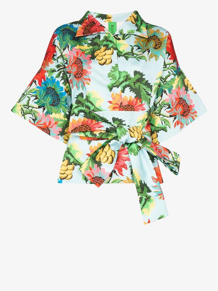 Rianna + Nina Rianna + Nina Claudia floral print belted jacket