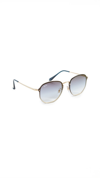Ray-Ban 0RB357 Round Aviator Sunglasses in gold