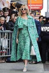 top,asymmetrical,asymmetrical top,katy perry,celebrity,midi skirt,coat,sandal heels,sandals