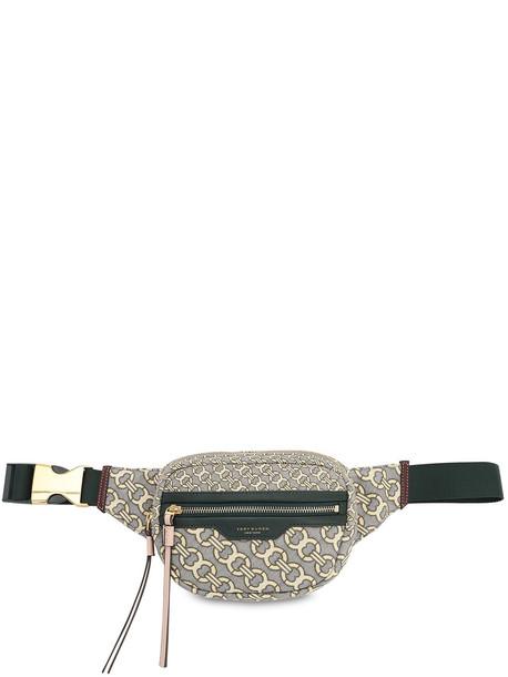 TORY BURCH Logo Jacquard Canvas Belt Bag